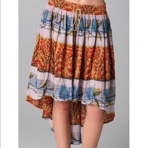 Free People zen garden high low skirt size S